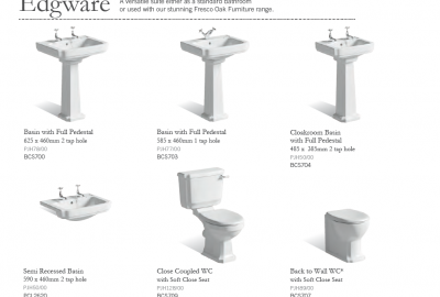 Edgware - Suggested Basins & WC