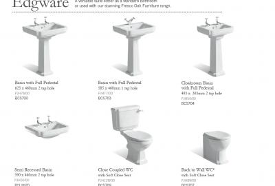 Edgware - Suggested Basins & WC