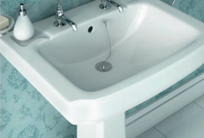 Edgeware Basin with Full Pedestal