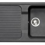 Astracast Korona ROK Black Granite Composite Reversible Kitchen Sink