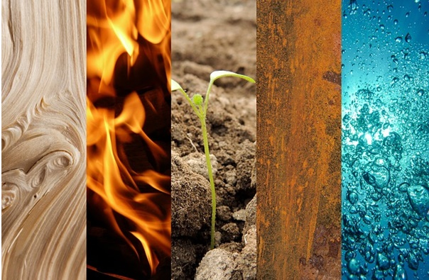 The 5 elements of Feng Shui - Wood, Fire, Plant, Metal, Water