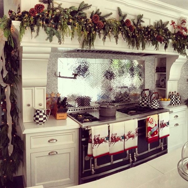 KNB Kitchen with Christmas Decorations