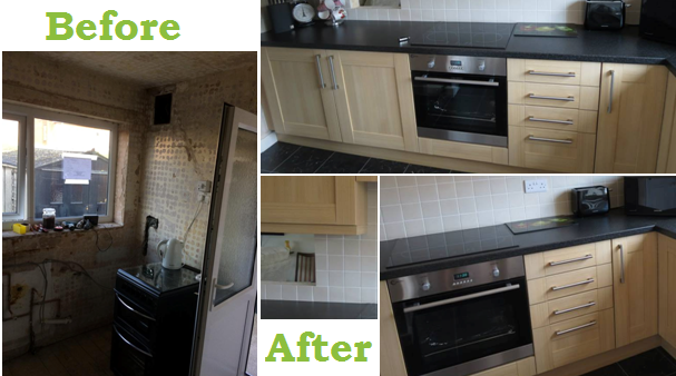 Mr & Mrs Press, Nottingham Shaker Kitchen Makeover
