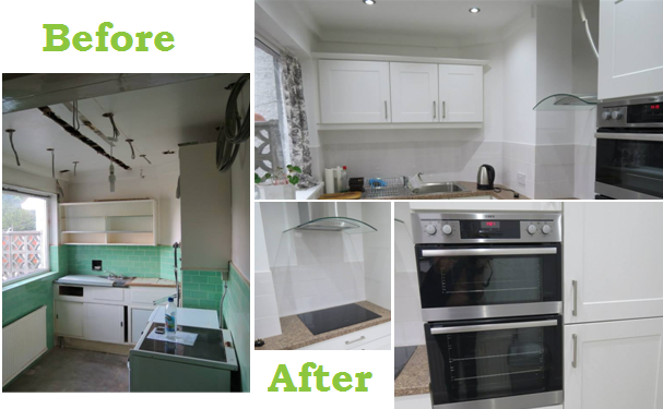 Before and After of Mrs Wakefield'S Modern Kitchen Makeover Design