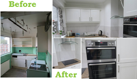 Kitchen Designers Nottingham.  Before After Mrs Wakefield s Kitchen Design Remodeling Bespoke Nottingham KNB Ltd