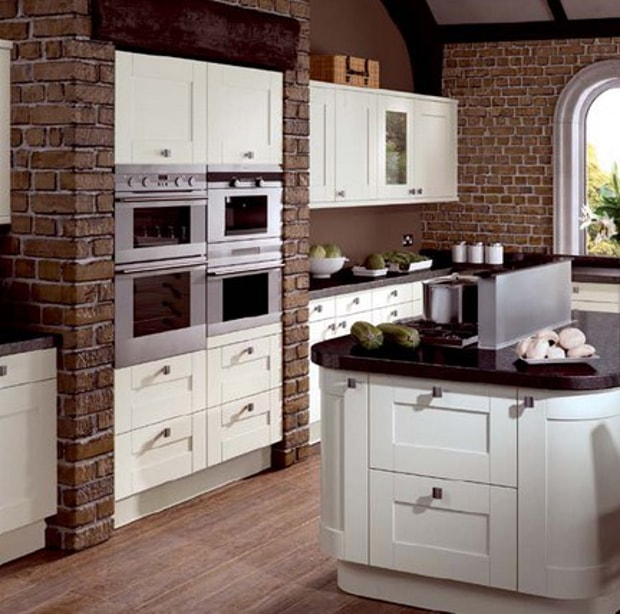 Ivory Shaker Style Cabinet Doors From The Burnett Range