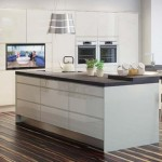 White flat panel door cabinets from the Sienna range