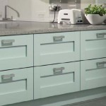 Town and Country collection sea green wooden cabinets