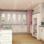 Elegant spotlights in a shaker style kitchen