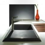 Black top mounted kitchen sink