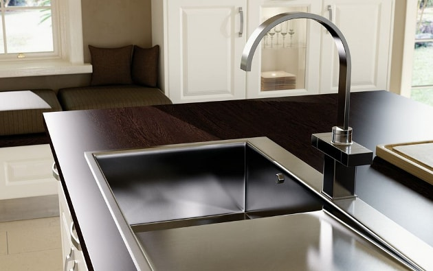 Stainless steel sink and tap appliances