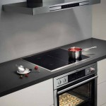 Modern electric kitchen hob design with cooking hood