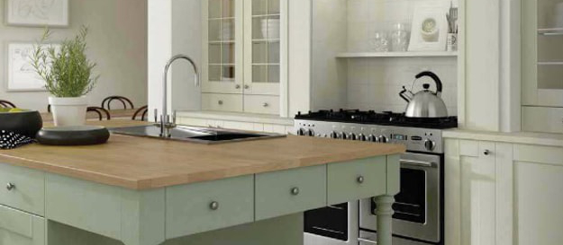 Kitchen with sink and hob appliances