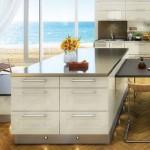 Cream gloss units from the Rio modern kitchen range