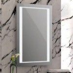 Large bathroom mirror with task lighting