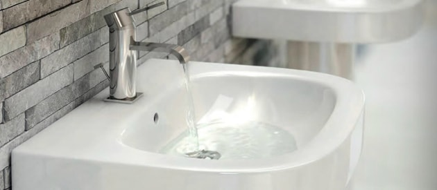 sink with tap running