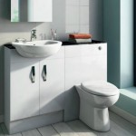 Toilet installed in vanity unit