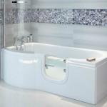 White walk in bathtub