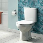 White close coupled toilet
