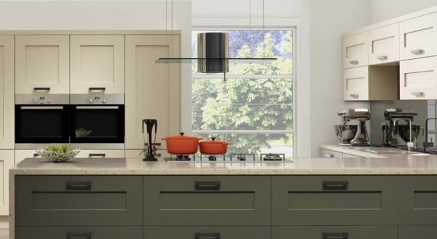 Kitchen with neutral coloured walls