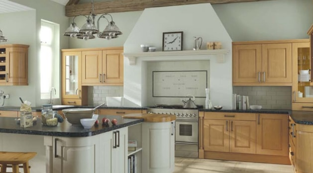Traditional kitchen with modern appliances