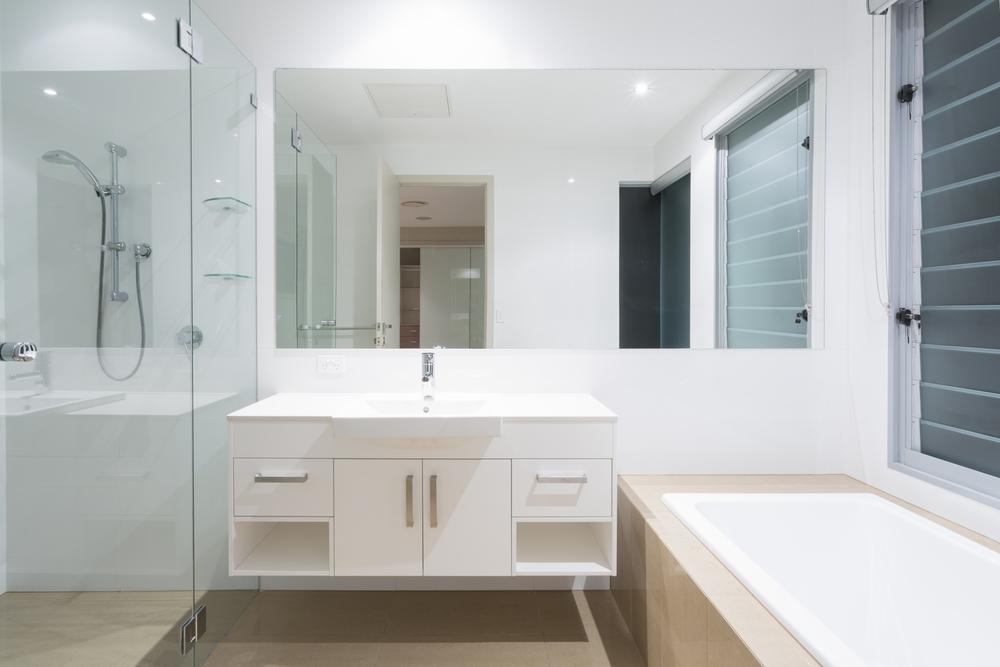 a small bathroom that looks big