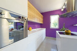 purple paint kitchen